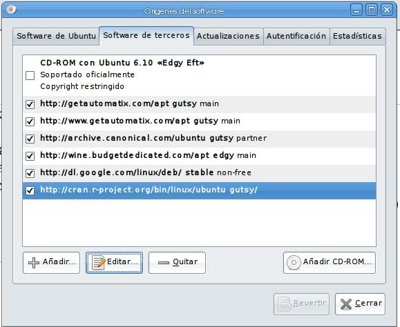 Acerca de... Actualizaciones de R y Ubuntu (1/2)
