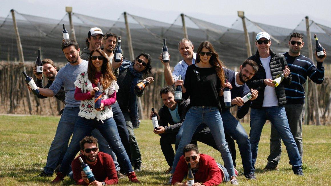 Productores amigos en una Feria de Vinos en Buenos Aires 1