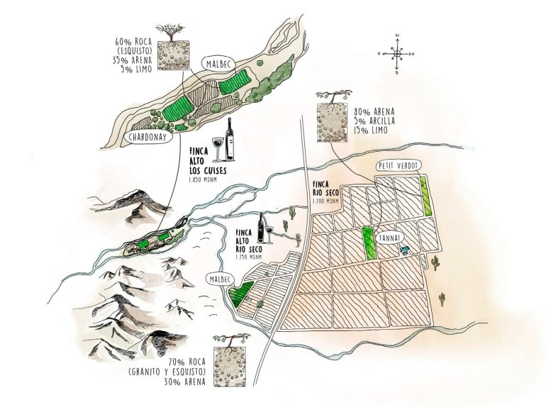 Mapa de Finca Alto Las Cuises.