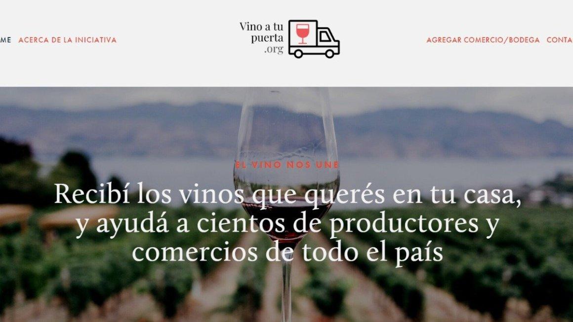 Nace Vino A Tu Puerta, una web solidaria para comprar vinos por delivery 2