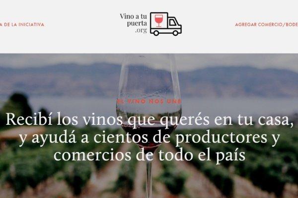 Nace Vino A Tu Puerta, una web solidaria para comprar vinos por delivery