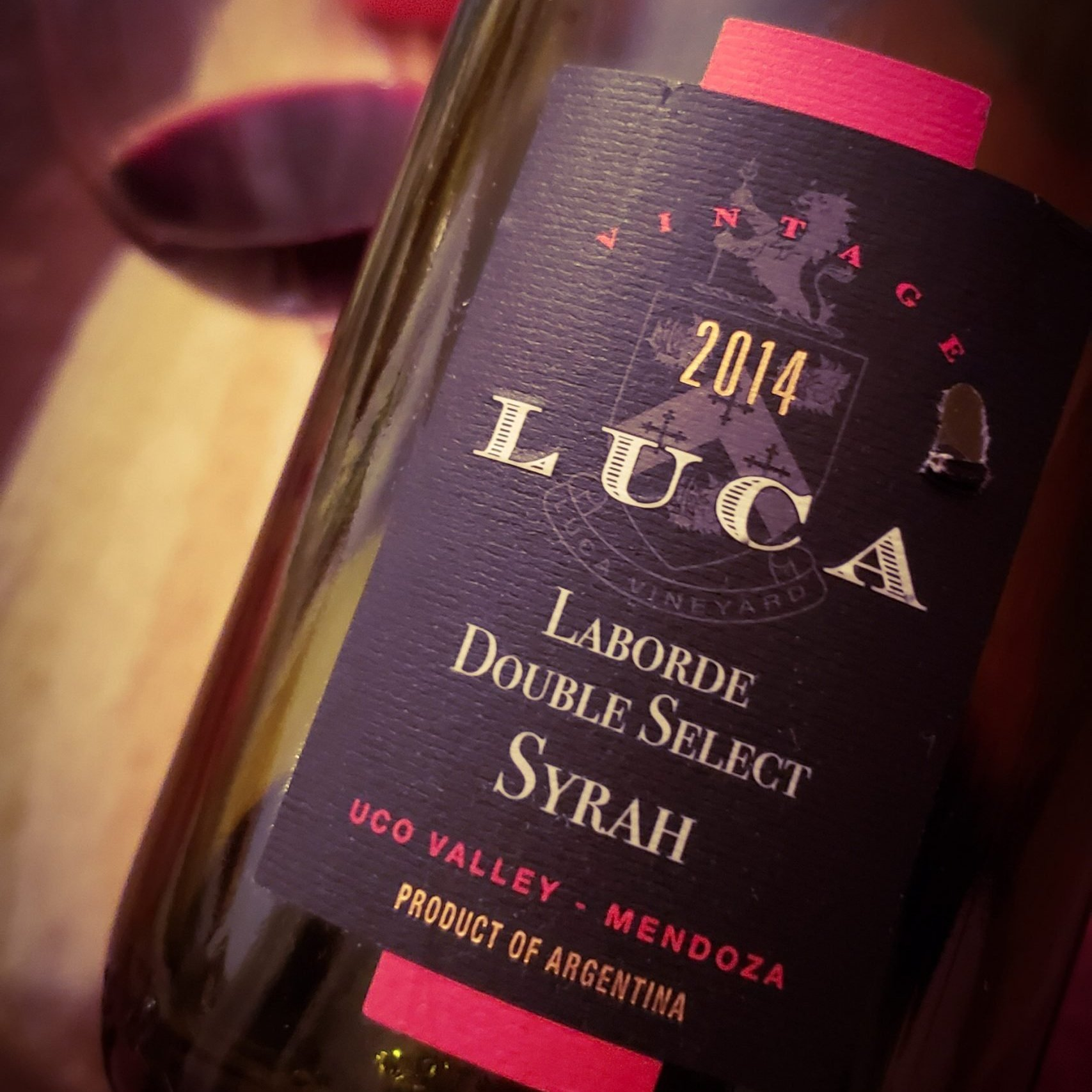 100 días - Luca Laborde Double Select Syrah 2014