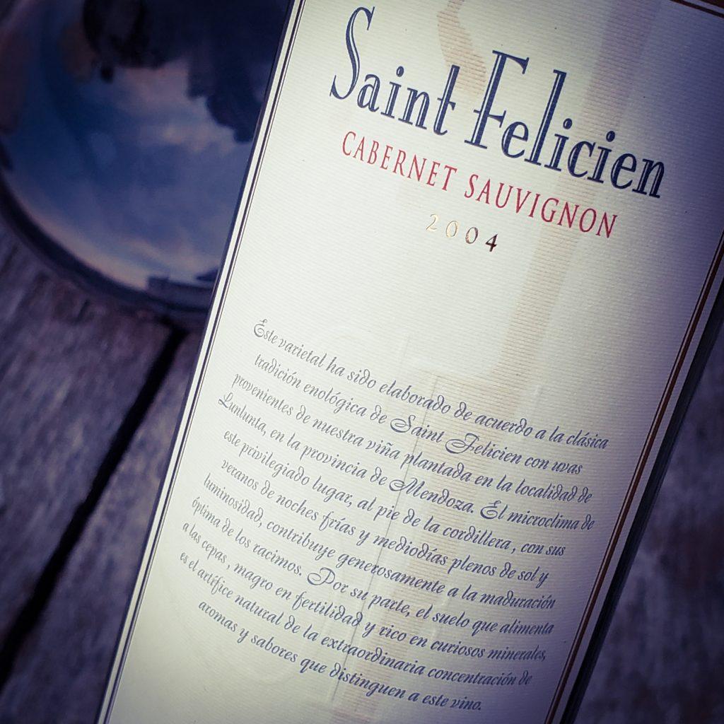cuarentena 200 saint felicien cabernet sauvignon 2004