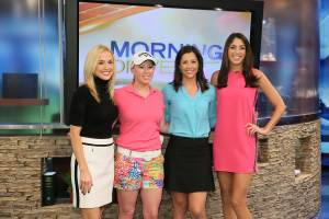 Morning Drive -- Season: 4 -- Pictured: -Lauren Thompson, Morgan Pressel, Paige Mackenzie, Bailey Moiser- (Photo by: Jessica Danser/Golf Channel)