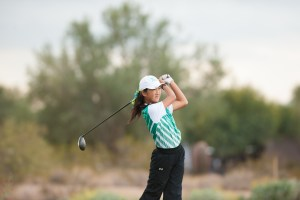 SCOTTSDALE, AZ - NOVEMBER 20: Alice Liu of the California team hits her tee shot on the eighth hole during session five for the 2016 PGA jr. League Golf Championship presented by National Rental Car held at Grayhawk Golf Club on November 20, 2016 in Scottsdale, Arizona. (Photo by Traci Edwards/PGA of America)
