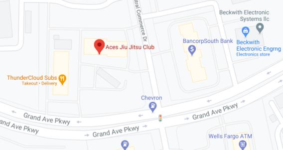Aces BJJ Club North Austin Texas Map Pic