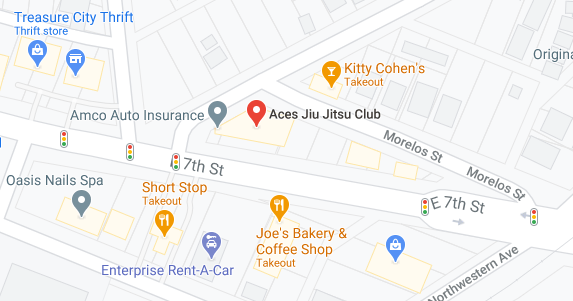 Aces Jiu Jitsu Club Downtown Austin Texas Map Snapshot