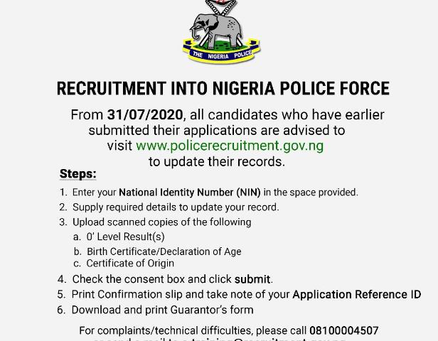 Nigerian Police Force Recruitment