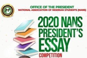 NANS Essay Competition 2020 for Secondary School Students (Prize: N400,000)