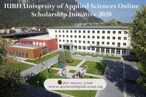 IUBH University of Applied Sciences Online Scholarship Initiative 2020