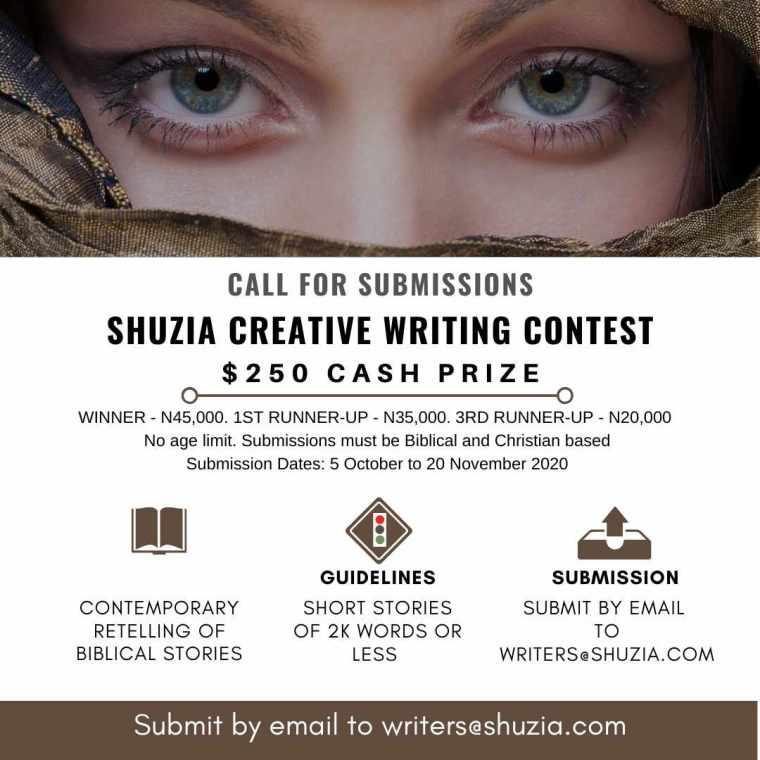 Shuzia Creative Writing Contest | $250 Cash Prize