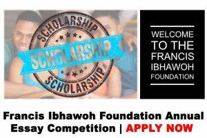 Ibhawoh Foundation Essay Competition