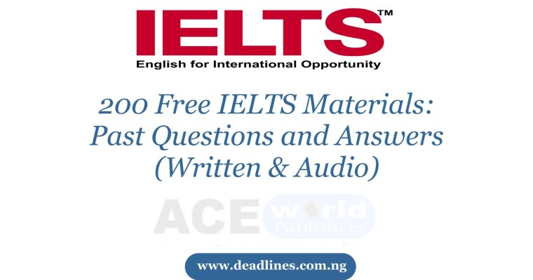 200 Free IELTS Materials Past Questions and Answers (Written & Audio)