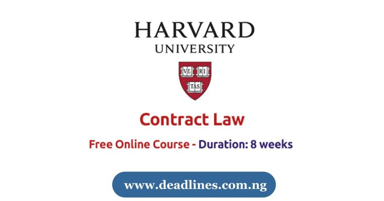 Harvard University Free Online Course on Contract Law