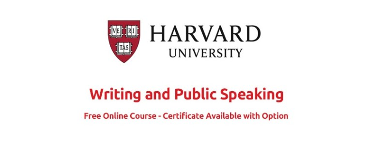 Harvard University Writing and Public Speaking (Free Course)