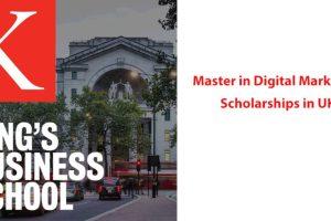 King's Business School Master Degree in Digital Marketing Scholarship in UK