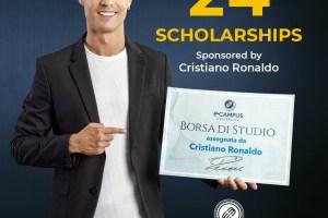 Cristiano Ronaldo offers scholarships to students