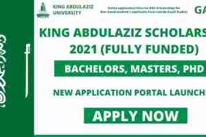 Study-In-Saudi Arabia: 2021 King Abdulaziz University Scholarship For International Students