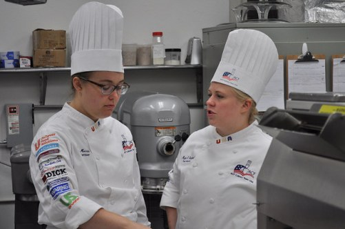 Tracy Morris (left) and Megan Bamford (right) of Youth Team USA