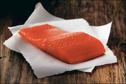 Raw Alaska Coho Fillet on Parchment