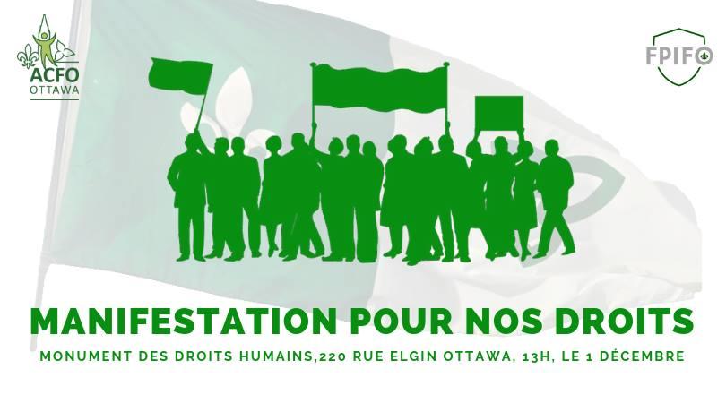 Banière manifestation de droits