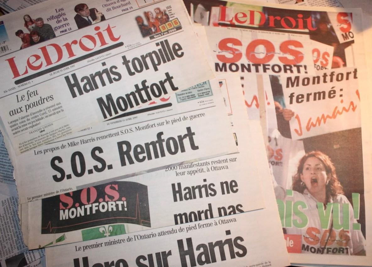 Le droit, titres S.O.S Monfort