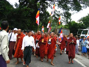 Burmesemonksleadprotest