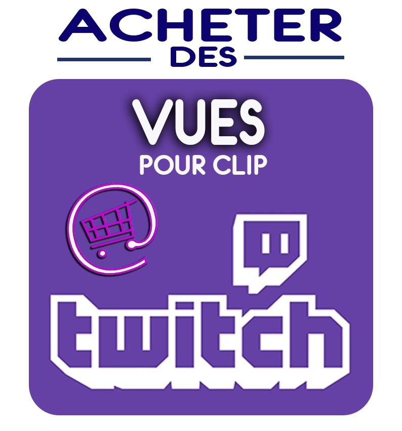 Grace aux clips suggérés et nos vues pour clip twitch booster la popularité de votre clip twitch