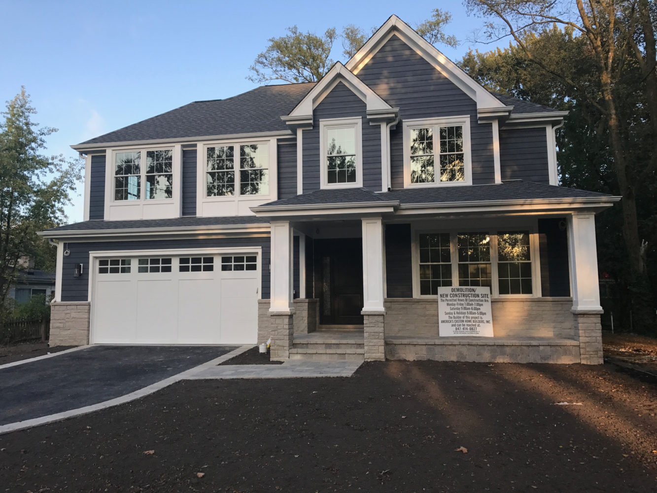 The Exterior Is Done At Our New Custom Home In Glenview