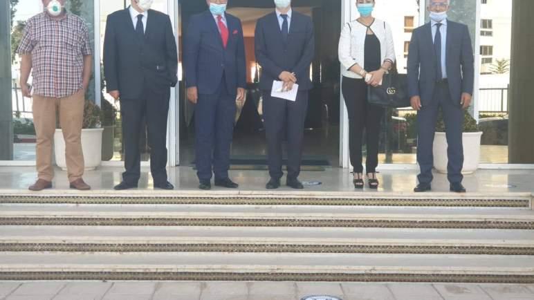 عثمان الفردوس يستقبل وفدا من المكتب التنفيذي الفيدرالية المغربية لناشري الصحف