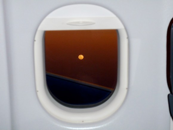 The Moon at 33,000 feet