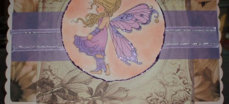 Silver fairy in lilac!