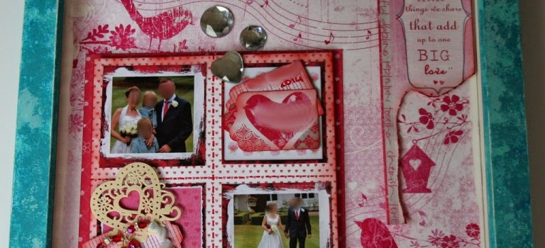 Using a scrapbook layout to make a picture.