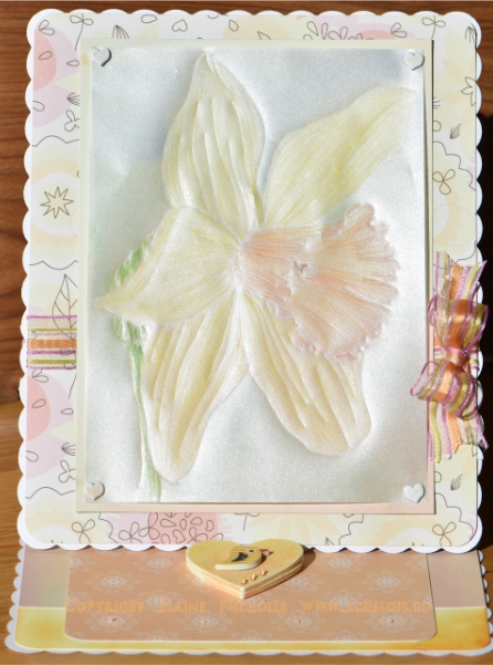 Daffodil vellum Mothers day card