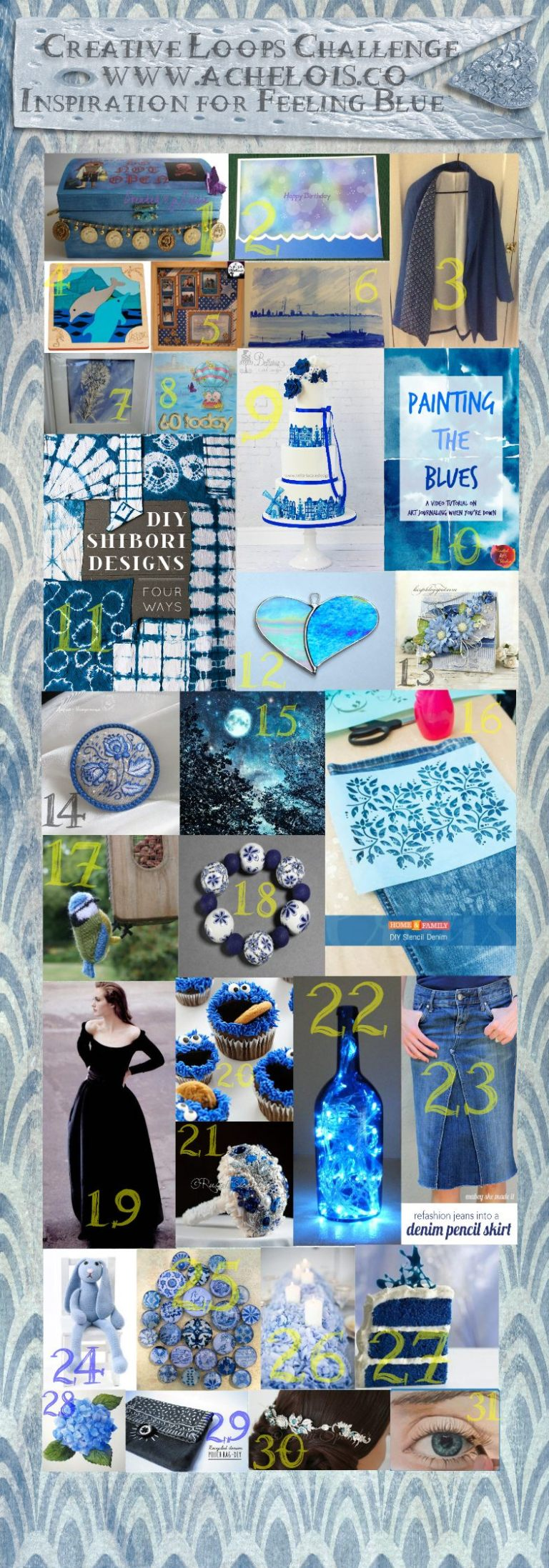 Creative loops challenge feeling blue