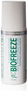 Biofreeze roll on applicator bottle