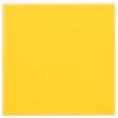 carrelage mural 10 x 10 lisse brillant couleur jaune fonce