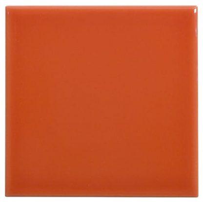 Carrelage Mural 10 X 10 Lisse Brillant Couleur Orange Fonce Acheter Carreaux