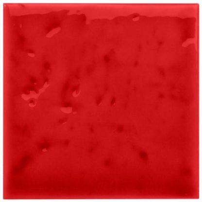 carrelage mural 10 x 10 texture brillant couleur rouge
