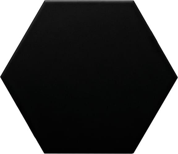 carrelage mural 11 x 13 hexagonal lisse mat couleur noir