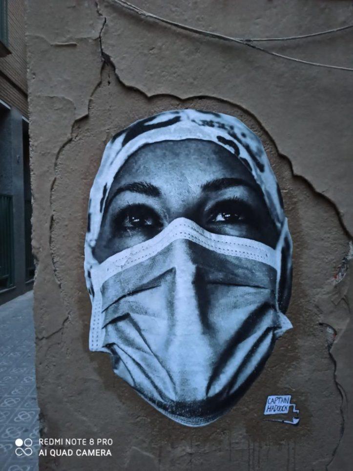 Street Art Covid et Immobilier Coronavirus acheter en Espagne 41