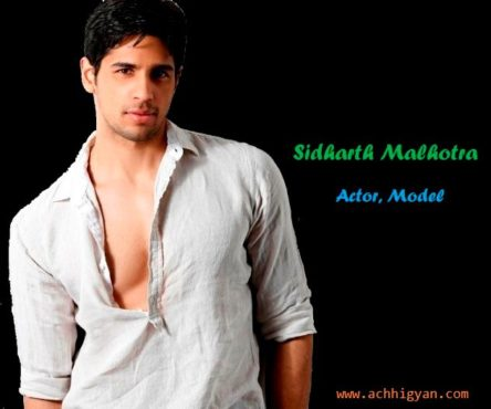 Sidharth Malhotra Biography In Hindi