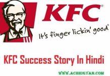 KFC Success Story In Hindi With KFC Brand Story,