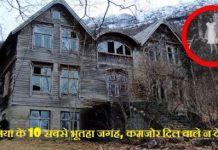 दुनिया के 10 सबसे भूतहा जगह, कमजोर दिल वाले न देखे Top Ten Haunted Place Of World In Hindi