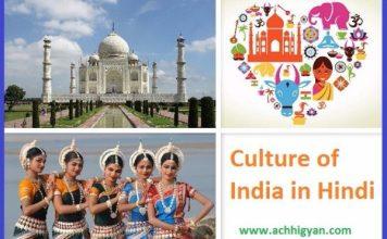 भारतीय संस्कृति की जानकारी | Culture of India in Hindi