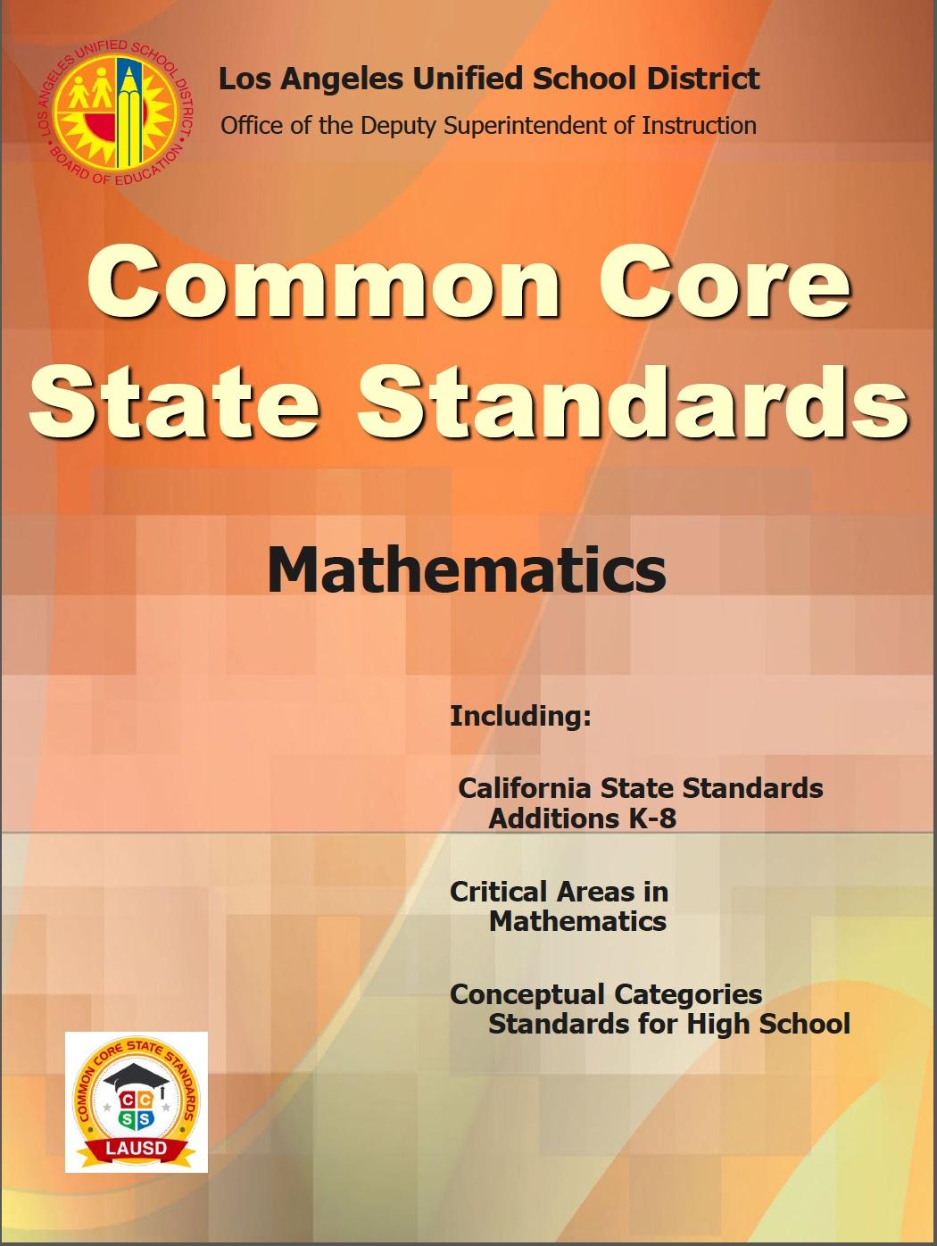 California State Standards 4th Grade Math