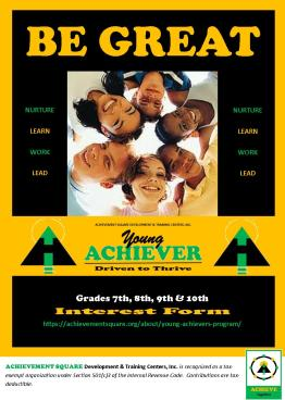 Young Achievers Program Flyer ONLINE ACHIEVE TOGETHER