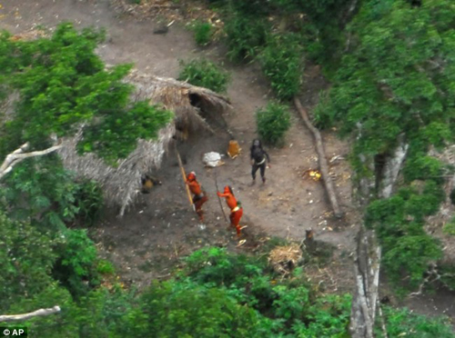Amazon Tribe Defends Village against Helicopter