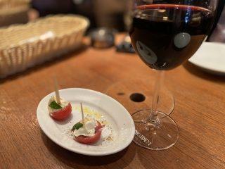 【仕事出張】岡山にてスペインバルで海老のアヒージョとハウスワインで打ち上げ〜