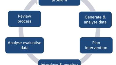 An action research cycle